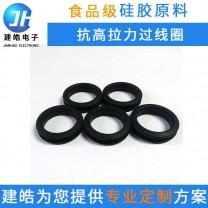 工厂定制抗高撕拉橡硅胶制品 气相胶硅胶过线环