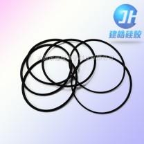 供应黑色防水O型硅胶密封圈-建皓硅胶
