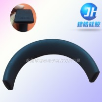 厂家生产包裹式耳机硅胶头带制品-建皓硅胶