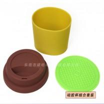 代加工定做硅胶咖啡杯配件|硅胶隔热杯套厂家-建皓